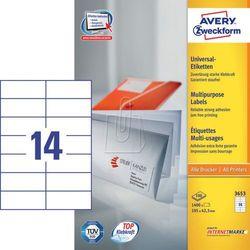 Etykiety uniwersalne Avery Zweckform 3653, 105x42,3mm