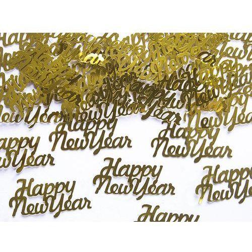 Pozostałe wyposażenie domu, Konfetti złote Happy New Year - 3 g