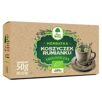 Herbaty ziołowe, HERBATKA Z KOSZYCZKÓW RUMIANKU BIO (25 x 2 g) - DARY NATURY