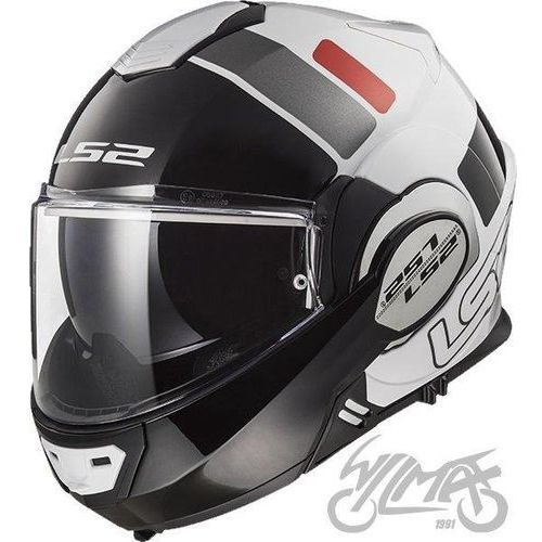 Kaski motocyklowe, KASK LS2 FF399 VALIANT PROX WHITE BLACK RED