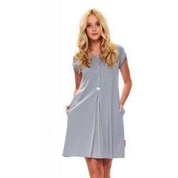 Bawełniana koszula nocna damska Dn-nightwear TCB.9703 szara