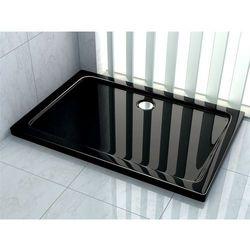 Brodzik prysznicowy akrylowy, kolor czarny 80x100 Breno Rea