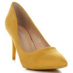 Uniwersalne Szpilki Damskie na każdą okazję marki Ideal Shoes Żółte (kolory)
