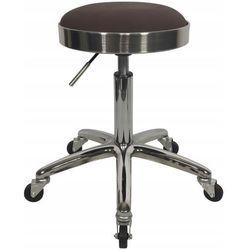 Krzesło taboret kosmetyczny fryzjerski hoker okrągły Brąz
