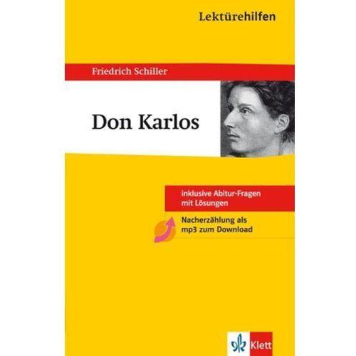 Pozostałe książki, Lektürehilfen Friedrich Schiller 'Don Carlos' Schiller, Friedrich von