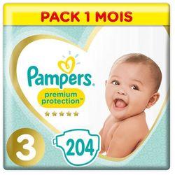 PAMPERS Premium Care 3 MIDI 204 szt. (5-9 kg) ZAPAS NA MIESIĄC - pieluchy jednorazowe