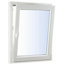 Okno PCV uchylne trzyszybowe 565 x 535 mm białe