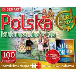 Puzzle Polska kultura ludowa + atlas