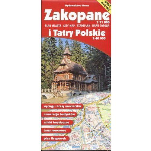 Mapy i atlasy turystyczne, Zakopane 1:11 000 i Tatry Polskie 1:40 000 (opr. broszurowa)