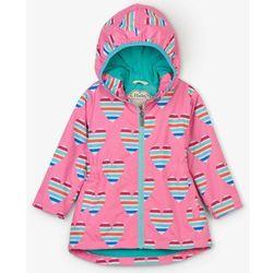 Hatley wodoodporny płaszcz dziewczęcy w serca 134/140 różowy