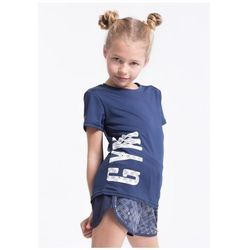Koszulka sportowa dla małych dziewczynek JTSD303z - granatowy
