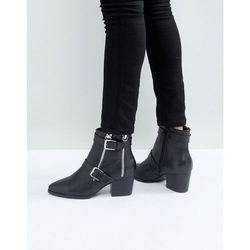 ASOS RATION Zip Ankle Boots in Water Based PU - Black