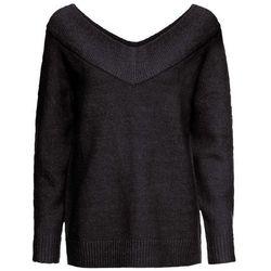 Sweter bez zapięcia z nitką lateksową bonprix biel wełny - pastelowy jasnoróżowy - srebrny - dymny szary