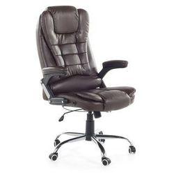 Krzesło biurowe brązowe - fotel biurowy - obrotowy - skóra ekologiczna - ROYAL II