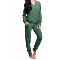 Welurowy dres damski komplet LUNA 306 zielony