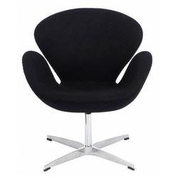 Kaszmirowy fotel wypoczynkowy czarny - Loco 2X