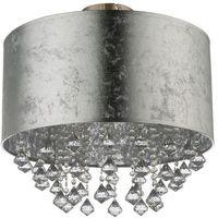 Lampy sufitowe, Plafon Globo Amy 15188D3 lampa sufitowa 1x60W E27 srebrny / nikiel mat