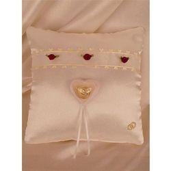 Poduszka Mini z pud. na obrączki kwadrat ekri+bord