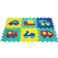 Puzzle, Puzzle piankowe 6 elementów Pojazdy