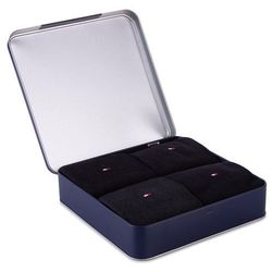 Zestaw 4 par wysokich skarpet męskich TOMMY HILFIGER - 429001001 Black 200