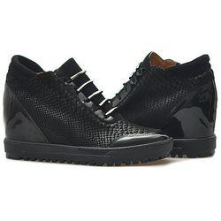 Sneakersy Eksbut 75-3880-B57/121/136 Czarne lico