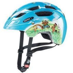 Kask rowerowy dziecięcy Uvex Finale niebieski z nadrukiem zwierząt -30 uvex (-30%)