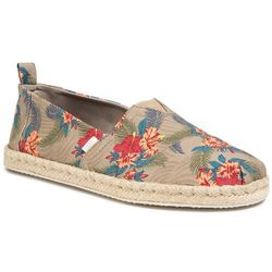 Espadryle TOMS - Classic 10015006 Oxford Tan Tropical Print/Rope