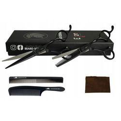 Degażówki + Nożyczki Fryzjerskie 6,0 Do Strzyżenia Black Teflon