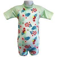 Stroje kąpielowe dla dzieci, Strój kąpielowy kombinezon dzieci 84cm filtr UV50+ - Mint Floral \ 84cm