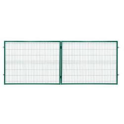 Brama panelowa Polbram Steel Group 2D 400 x 150 cm oczko 5 x 20 cm ocynk zielony