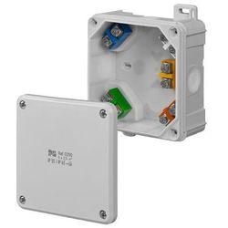 Puszka natynkowa hermetyczna IP65 98x98x46 wkład 5x2,5 0290-04 2K Elektro-Plast