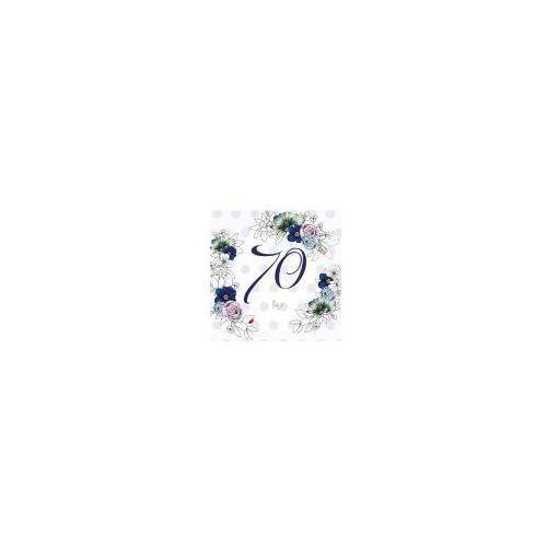 Pozostałe artykuły szkolne, Karnet Swarovski kwadrat CL1470 Urodziny 70 kwiaty