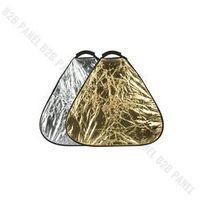 Blendy fotograficzne, GlareOne Blenda trójkątna 2w1 srebrno złota, 30cm