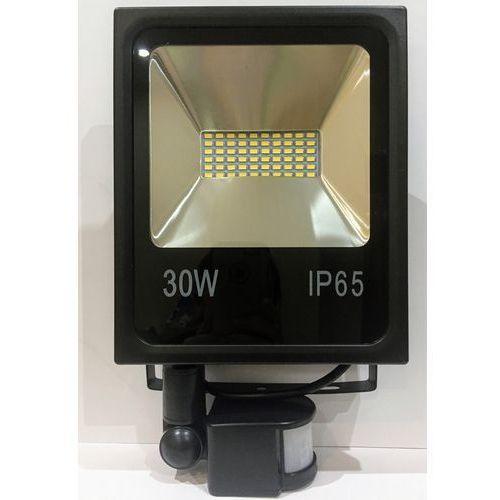 Czujki alarmowe, HALOGEN LAMPA NAŚWIETLACZ LED 30W Z CZUJNIK RUCHU 13163474