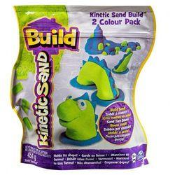 Piasek Kinetic Sand Build konstrukcyjny 2 kolory zielony-niebieski 454g Spin Master 5909980Z