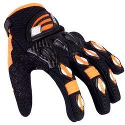 Rękawice motocyklowe W-TEC Chreno, Czarny/pomarańczowy, XL