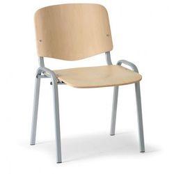 Drewniane krzesło ISO, buk, kolor konstrucji szary, nośność 100 kg