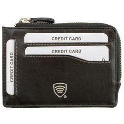 Etui na karty kredytowe i pieniądze - zabezpiecznie RFID STOP - Czarny mat