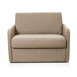 Fotel rozkładany NADOA z tkaniny, z mechanizmem typu ekspres – miejsce do spania 100 cm – kolor beżowy
