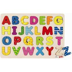 Układanka z alfabetem A-Z, wzorki, 26 el.