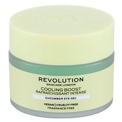 Makeup Revolution London Skincare Cooling Boost Cucumber żel pod oczy 15 ml dla kobiet