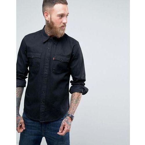 Koszulki z długim rękawem, Levis Orange Tab Long Sleeve Black Chambray Shirt - Black