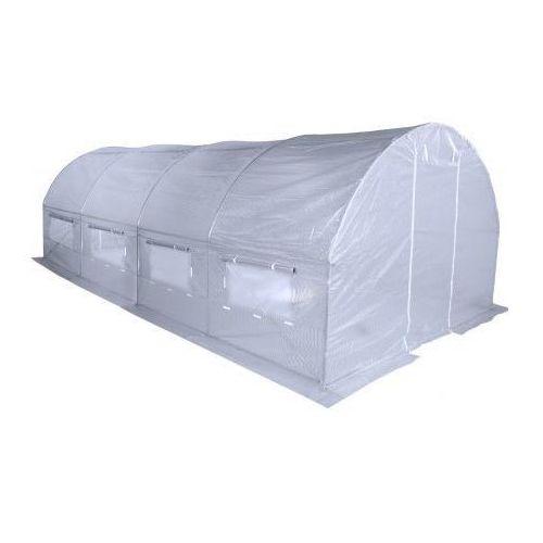 Szklarnie, Home&Garden tunel foliowy, ogrodowy - 300 x 600 cm (18 m2) - biały