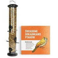 Środki na szkodniki, Bardzo duża tuba na ziarno dla ptaków (1l). Karmnik dla ptaków tuba 48cm.