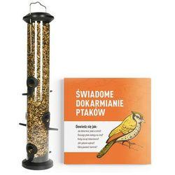 Bardzo duża tuba na ziarno dla ptaków (1l). Karmnik dla ptaków tuba 48cm.