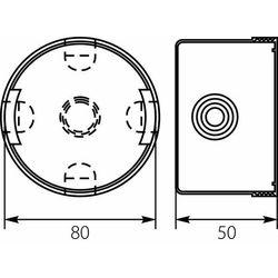 Puszka instalacyjna podtynkowa 80mm 13.3 E-P 6496