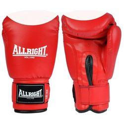 Rękawice bokserskie Allright PVC - czerwono-białe