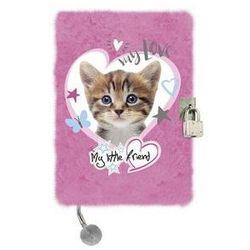 Pamiętnik z kłódką 3D włochacz A5, 96 kartek Kot Pink. Darmowy odbiór w niemal 100 księgarniach!