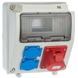 Rozdzielnica elektryczna bez wyposażenia RS 1 /9 6231 - 00 / 2 X 2P + Z 3P + N + Z 16A ELEKTRO-PLAST