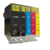 Tusze do drukarek, Komplet tuszy do Canon PIXMA iX 5000 iP 4200 MP 610 TD-CLI-8/PGI-5 CMYKPBK